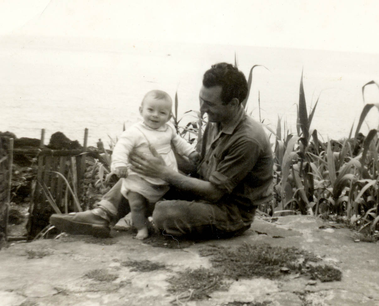 Me and my dad in our backyard in San Miguel, Azores, Portugal