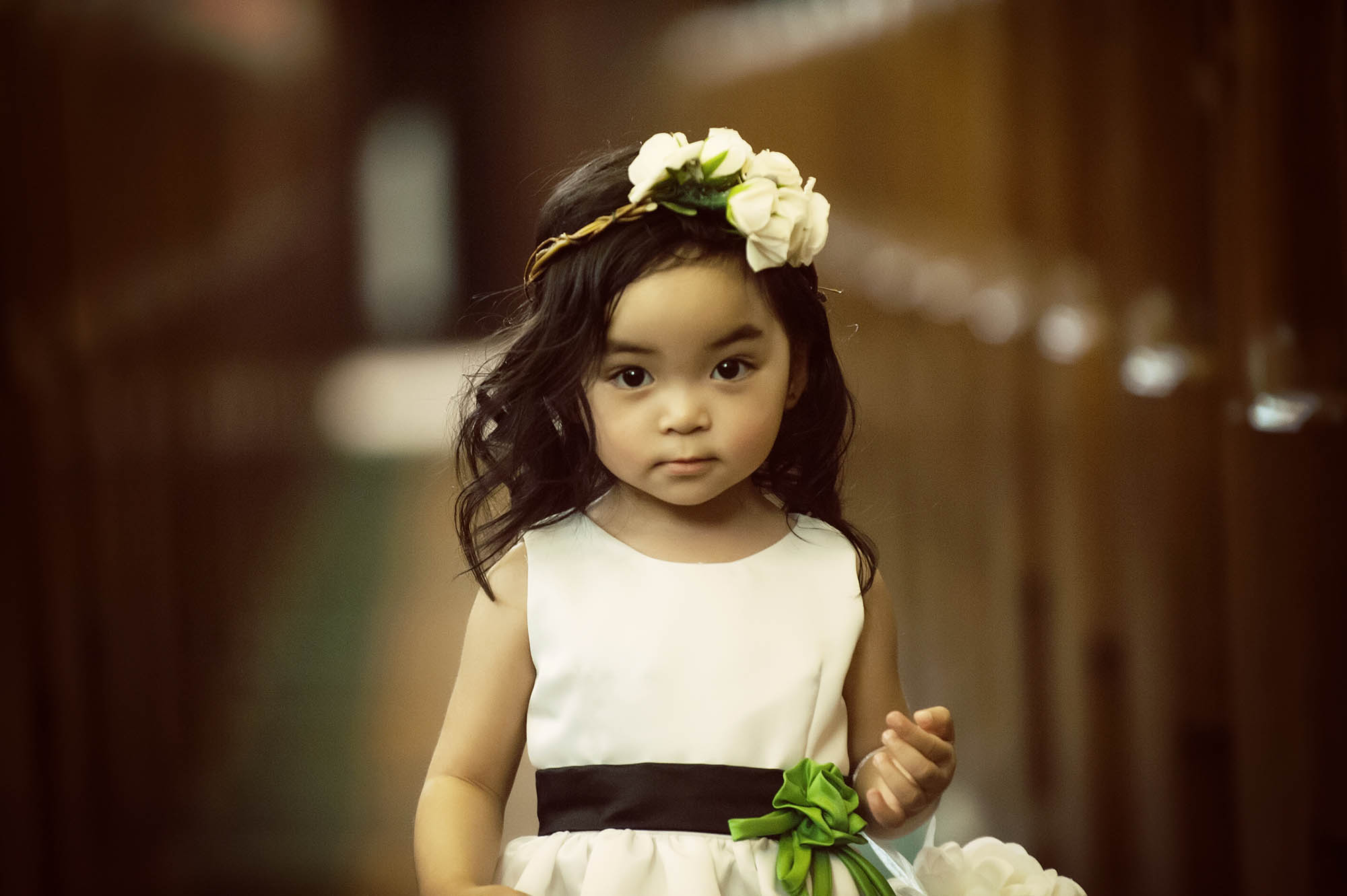 Flower girl at winnipeg wedding