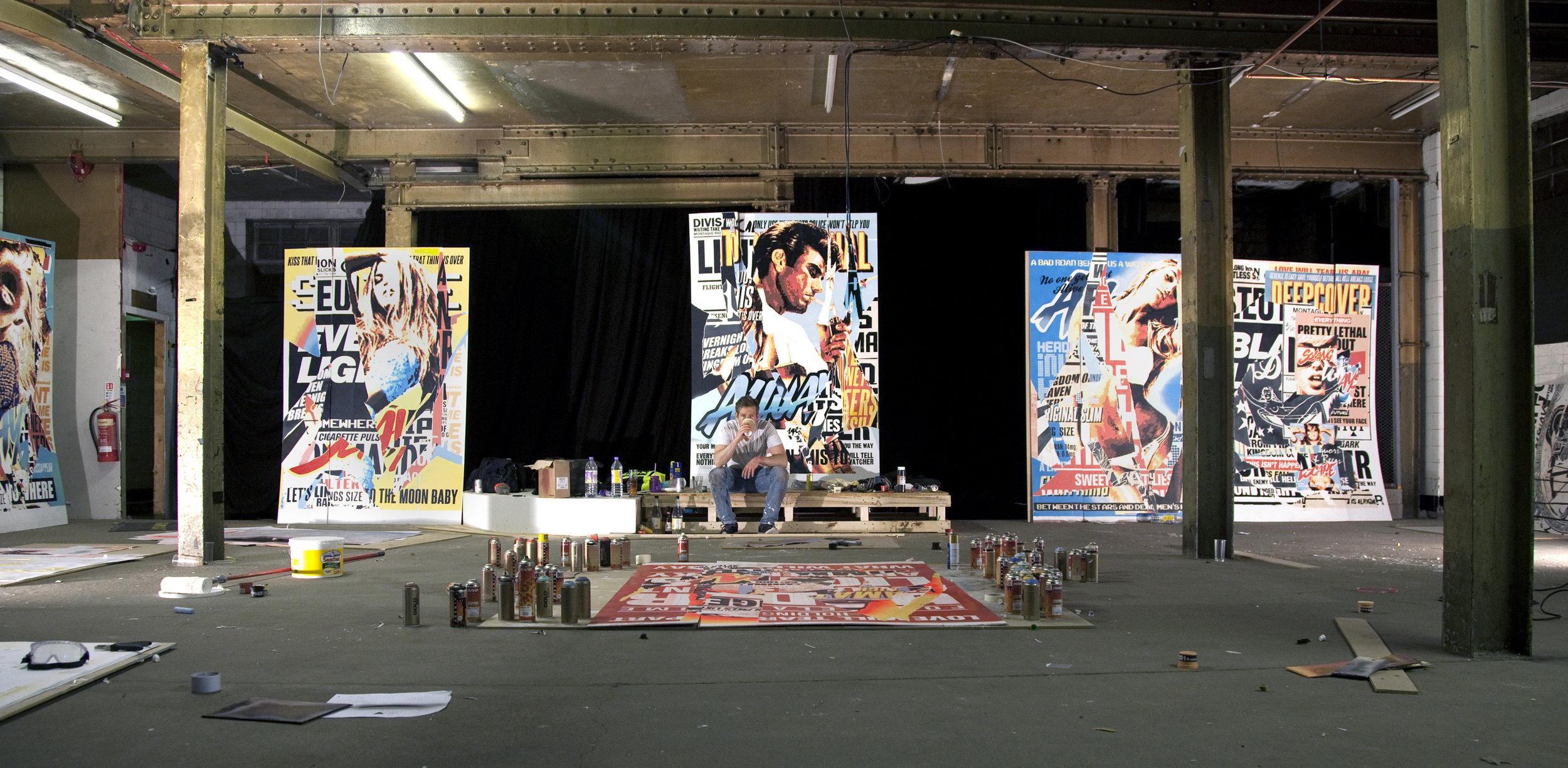 Glasonbury Festival studio prep 2016