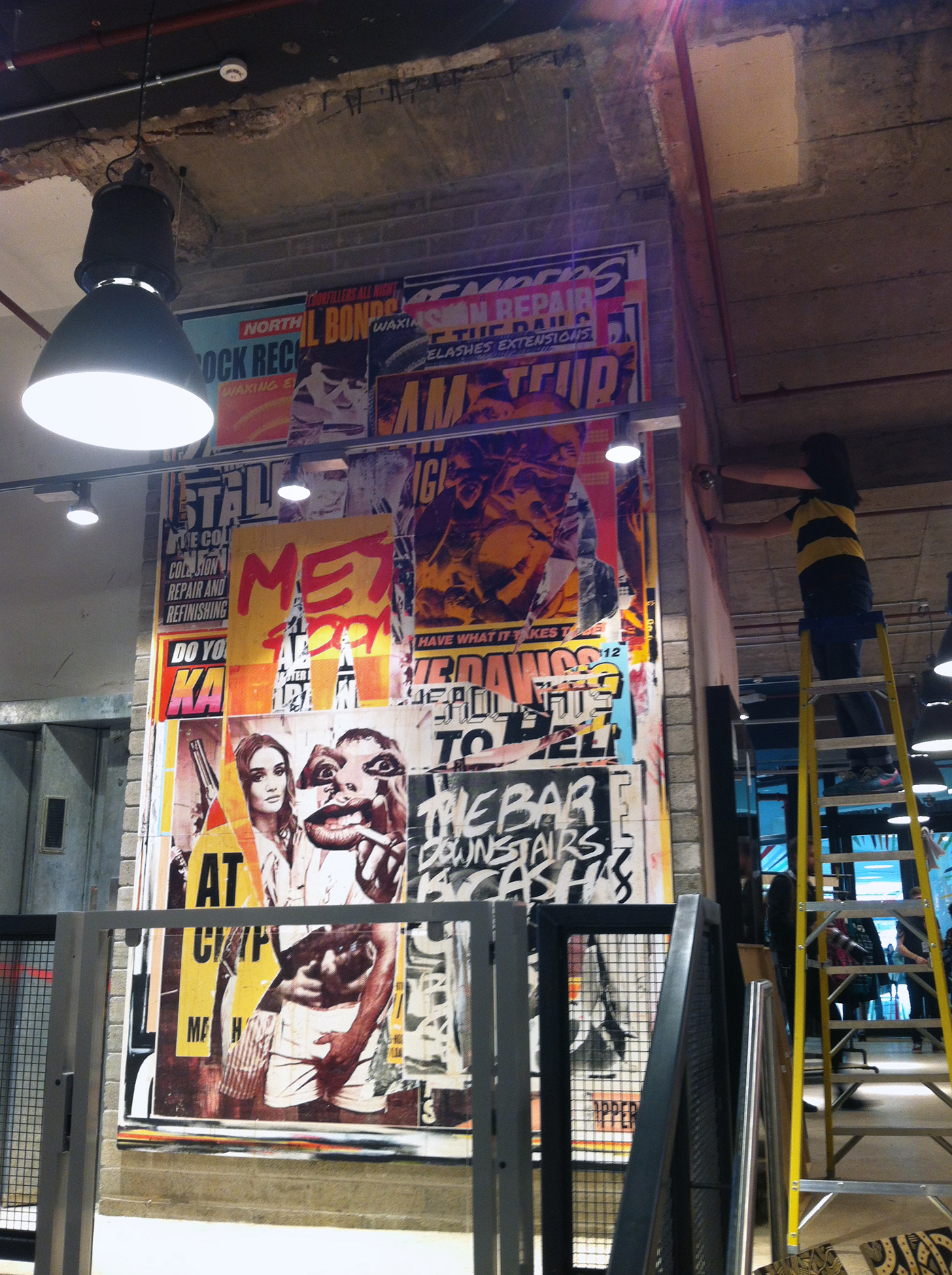 Urban Outfitters mural Nottingham 2013