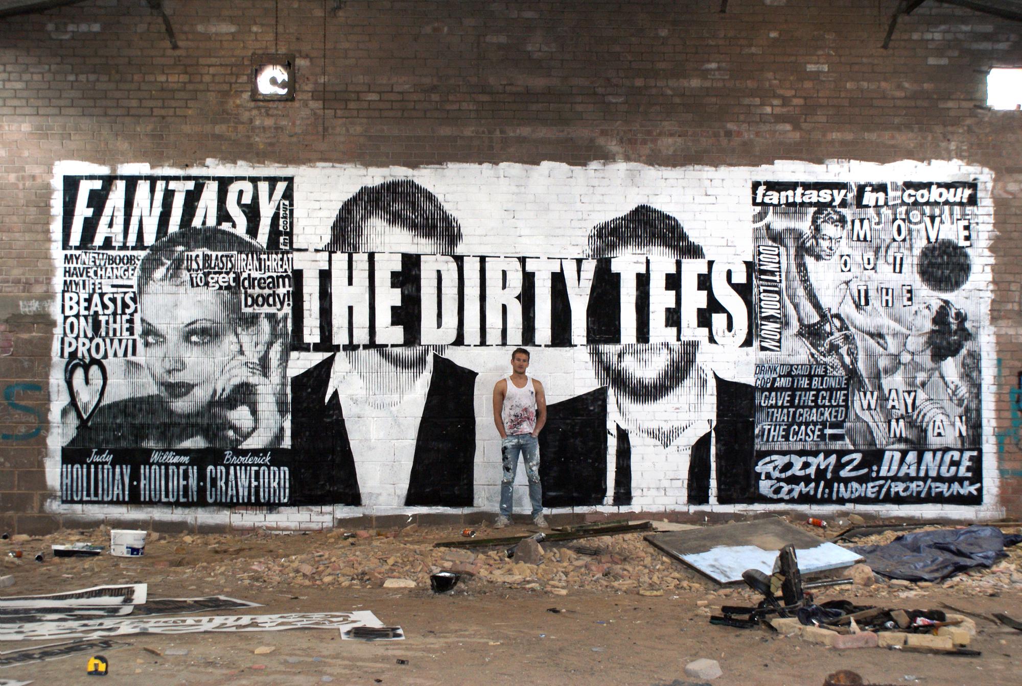 Mural for the Dirty Tees Edinburgh 2012