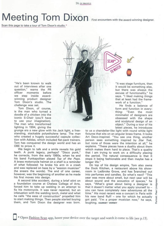 Tom Dixon for Because Magazine.
