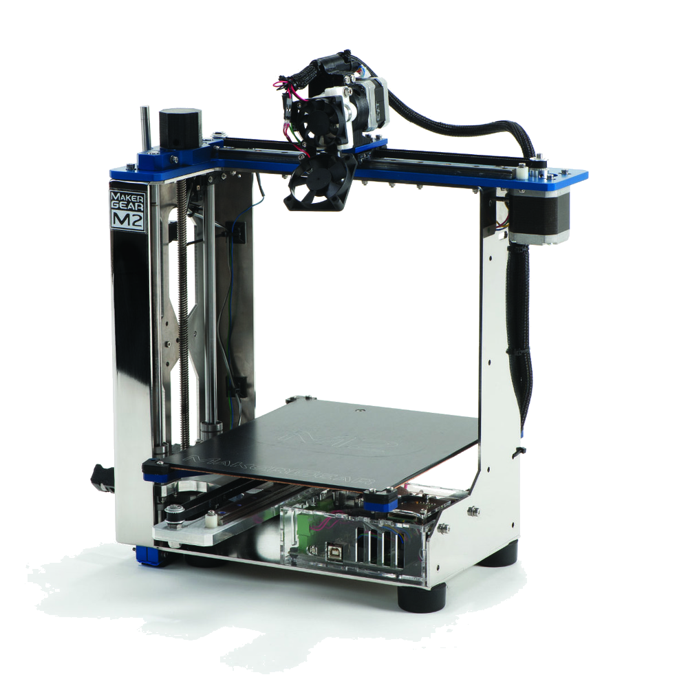 Makergear M2 - The Makergear M2 is capable of utilising a variety of materials to get the job done, these consist of filaments which have a broad range of specifications that both have their own benefits and applications, this allows us to choose the material which would best suit the products end use.