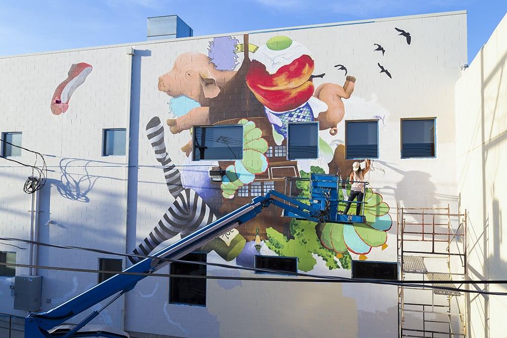 mural work-in-progress ,   Image: Joshua McDevitt, 2015.