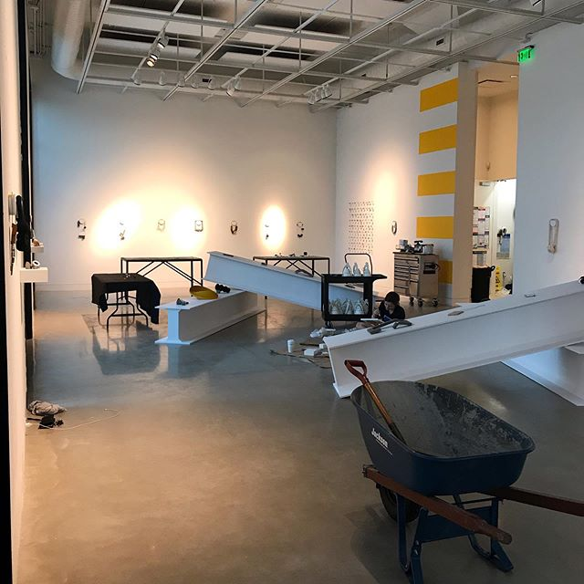 Finishing 🆙 installing Building on the Body @108contemporary  This exhibition features work by: Demi Thomloudis Kat Cole Tiff Massey Yong Joo Kim Sharon Massey Ritsuko Ogura Karen Ann Dicken Jiri Sibor Eleanor Bolton Federica Sala Julia Turner Caitie Sellers Kee-Ho Yuen Motoko Furuhashi Jess Tolbert  #buildingonthebody #contemporaryart #contemporaryjewelry #contemporaryjewellery #artjewelry #artjewelryforum #metalsmith