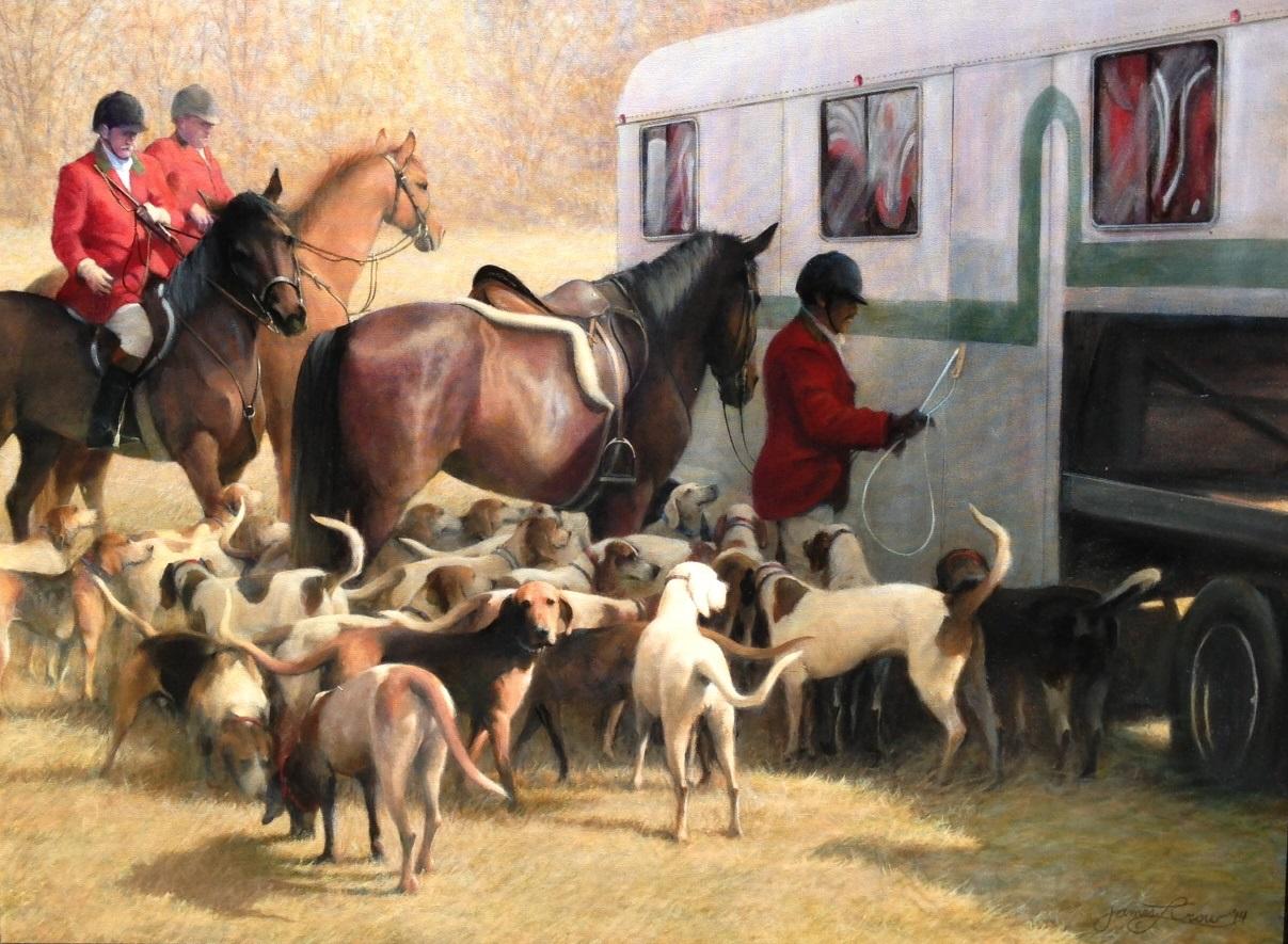 Dog & Horse Fine Art  James Crow, After the Hunt (1).JPG