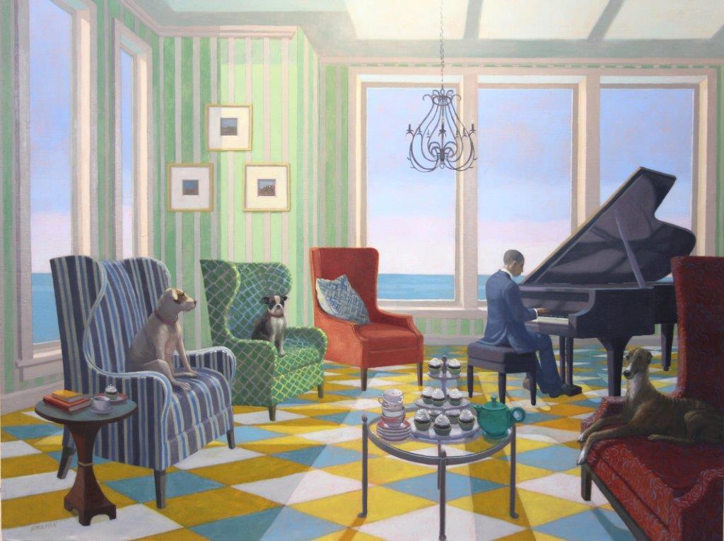 Dog & Horse Fine Art, Kathryn Freeman , Armchair Blues.JPG