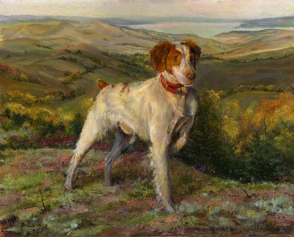 Dog & Horse, Fine Art, Beth Carlson diamond hill dan n.dakota.jpg