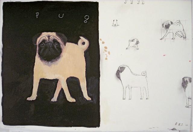 Dog & Horse Fine Art,  Robert Zakanitch, Pug.jpg
