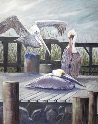 CAG Gallery_Lynn Salkeld_Three Pelicans.jpg