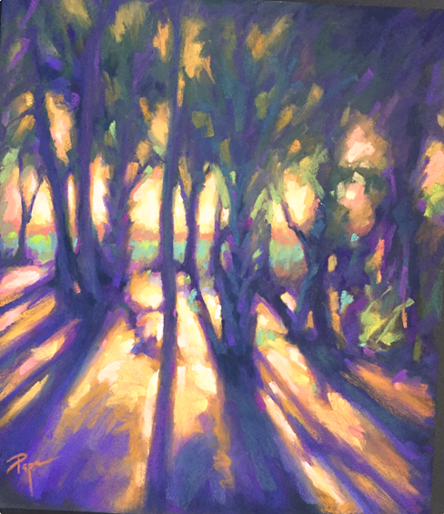 PapaLightSpillingThroughTheTrees19x20.png