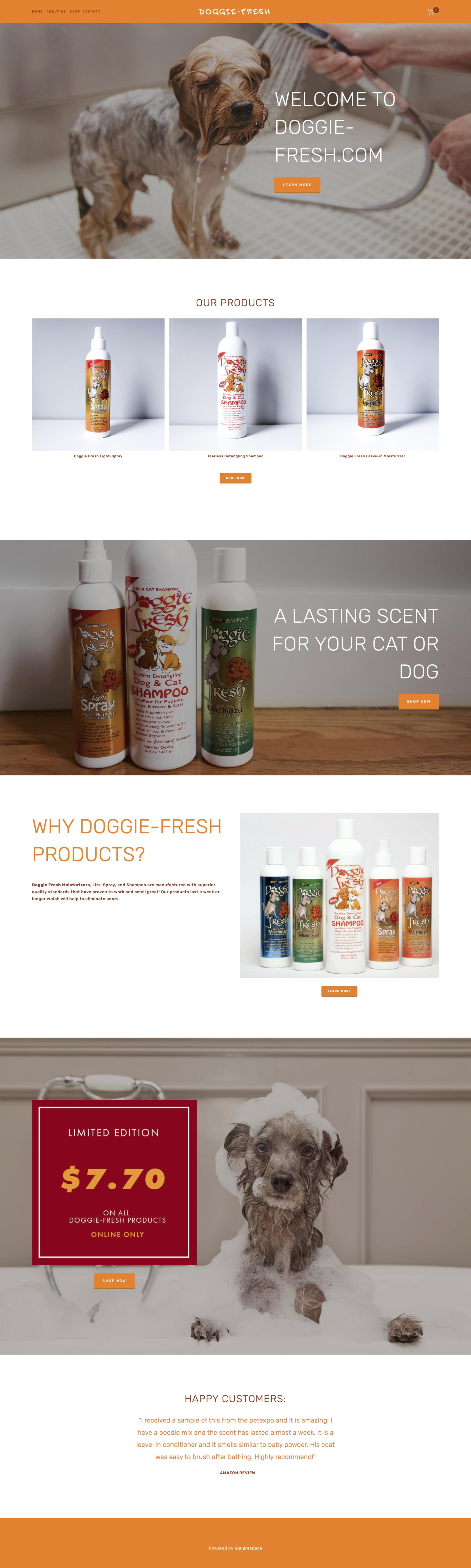 Doggie Fresh / Web Design