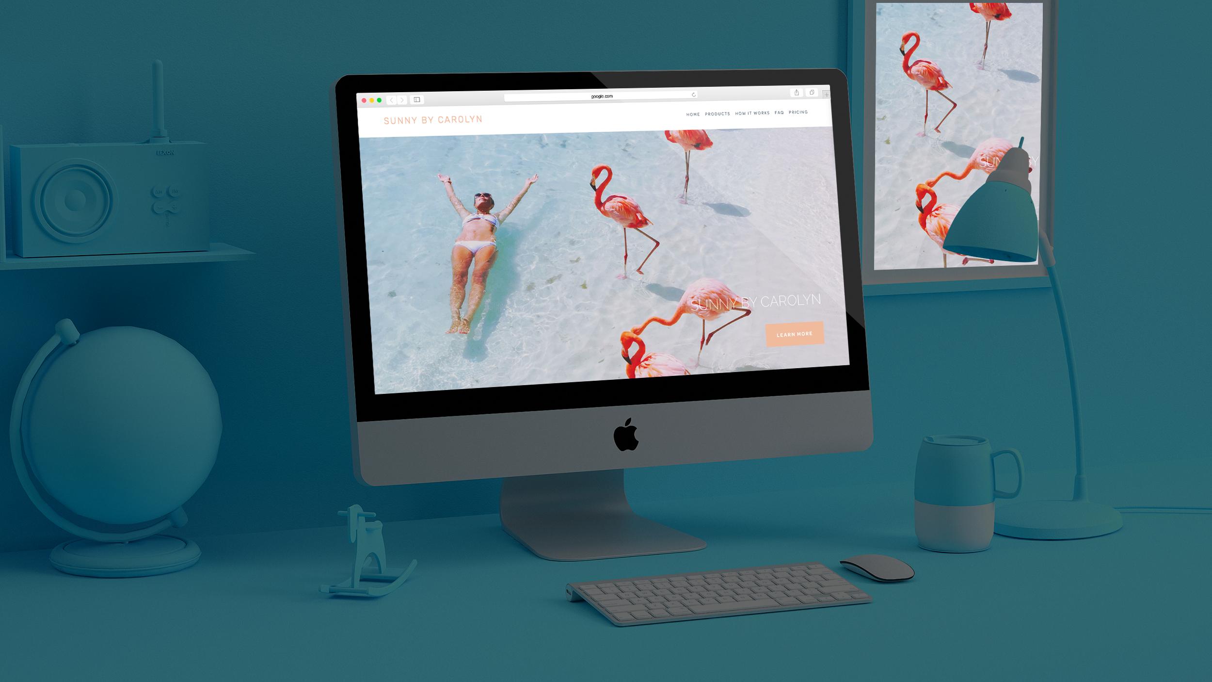 Sunny by Carolyn / Web Design