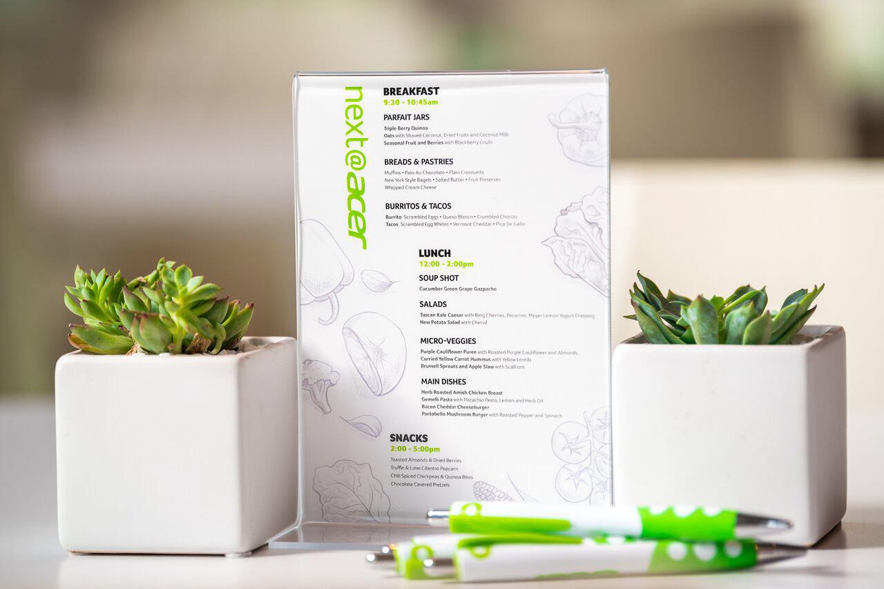 Acer / Menu Design
