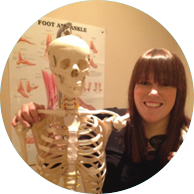 Alice Wharam  Senior Biomechanical Podiatrist  • BSc Podiatry (Hons) (Plymouth) • Masters modules:  Cortisone Therapy and  Injectable Therapy (Stafford)