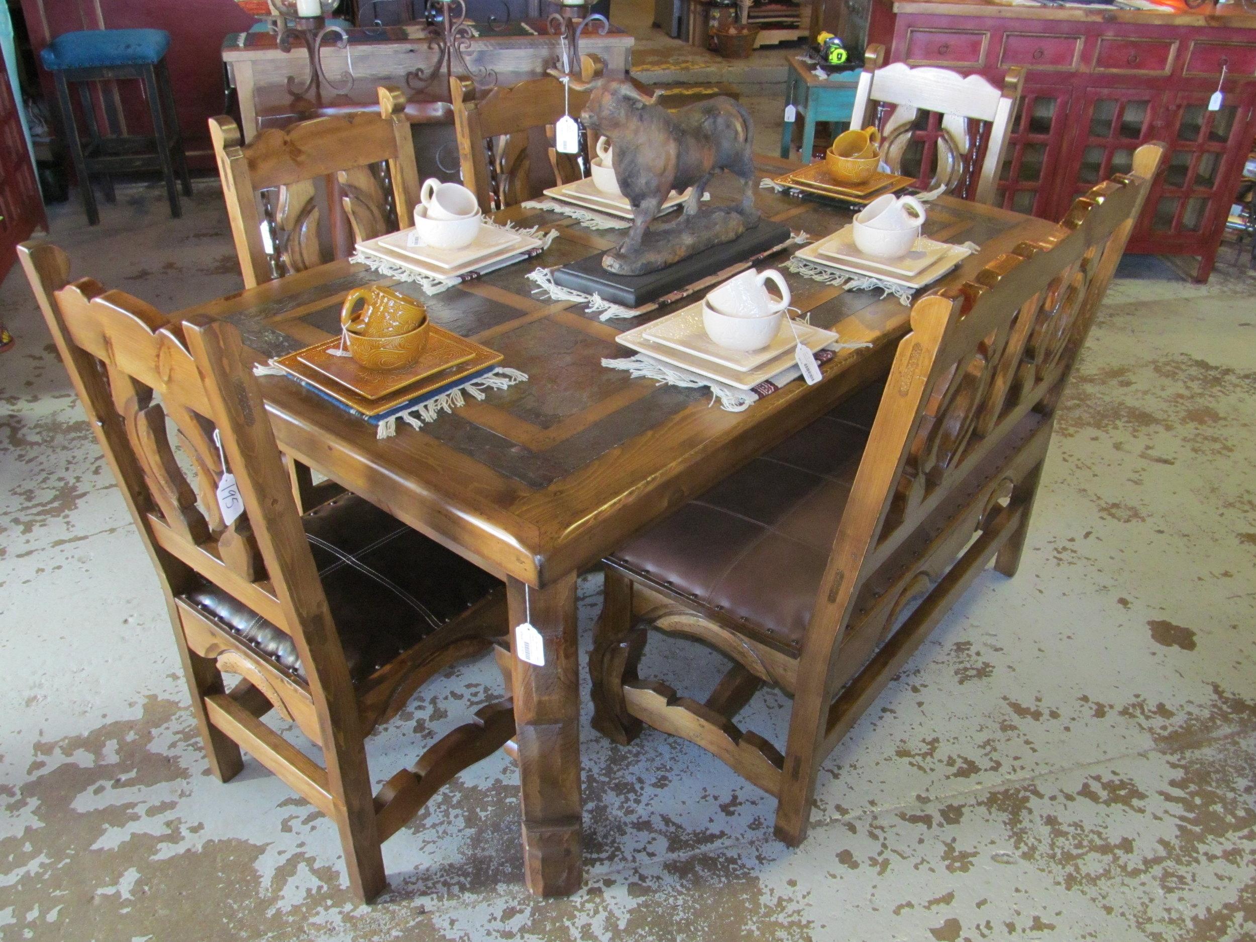 Slate Tile Top Dining Table Casa Decor