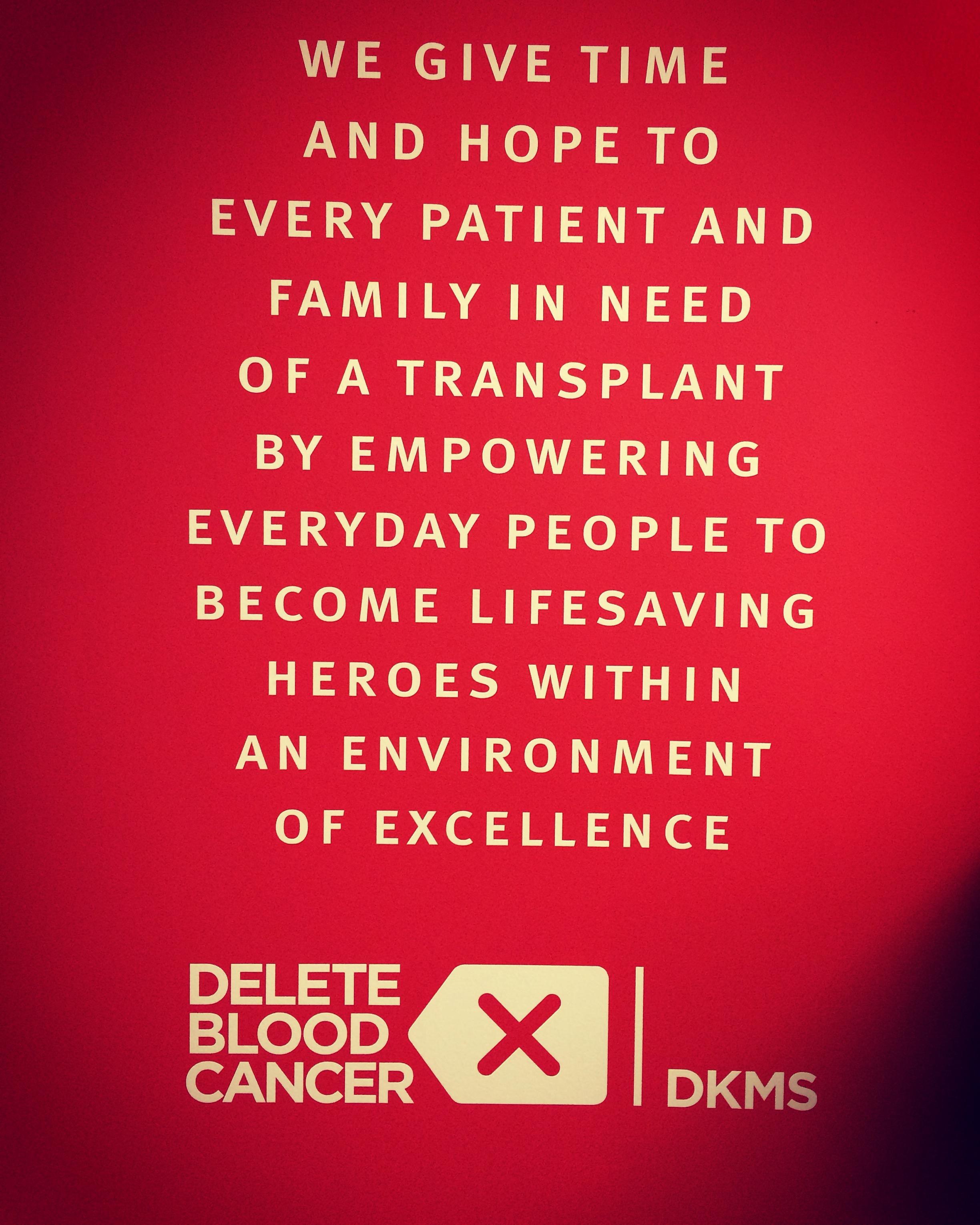 delete blood cancer office logo
