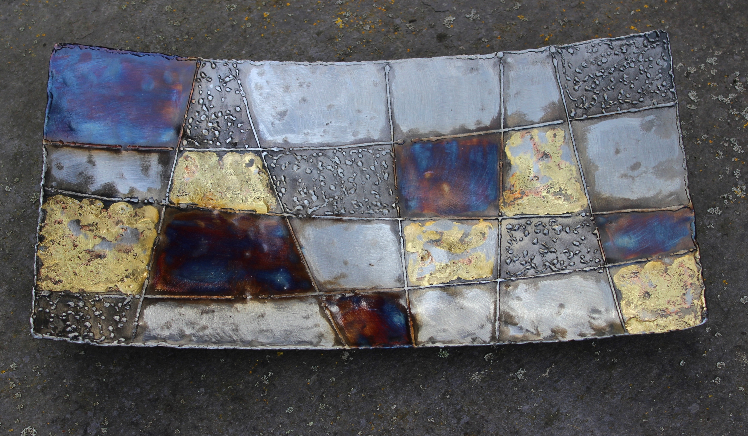 Iron / steel platter with bronze detail - from a selection starting at £69 each plus £20 insured p&p (UK mainland)