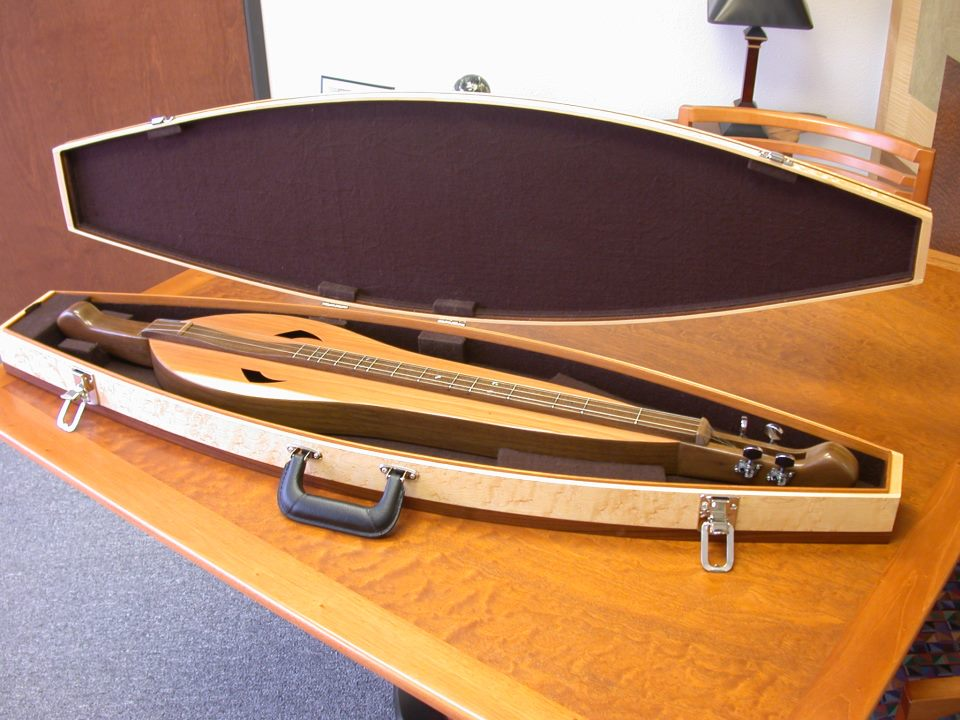 Dulcimer case made in Birdseye Maple