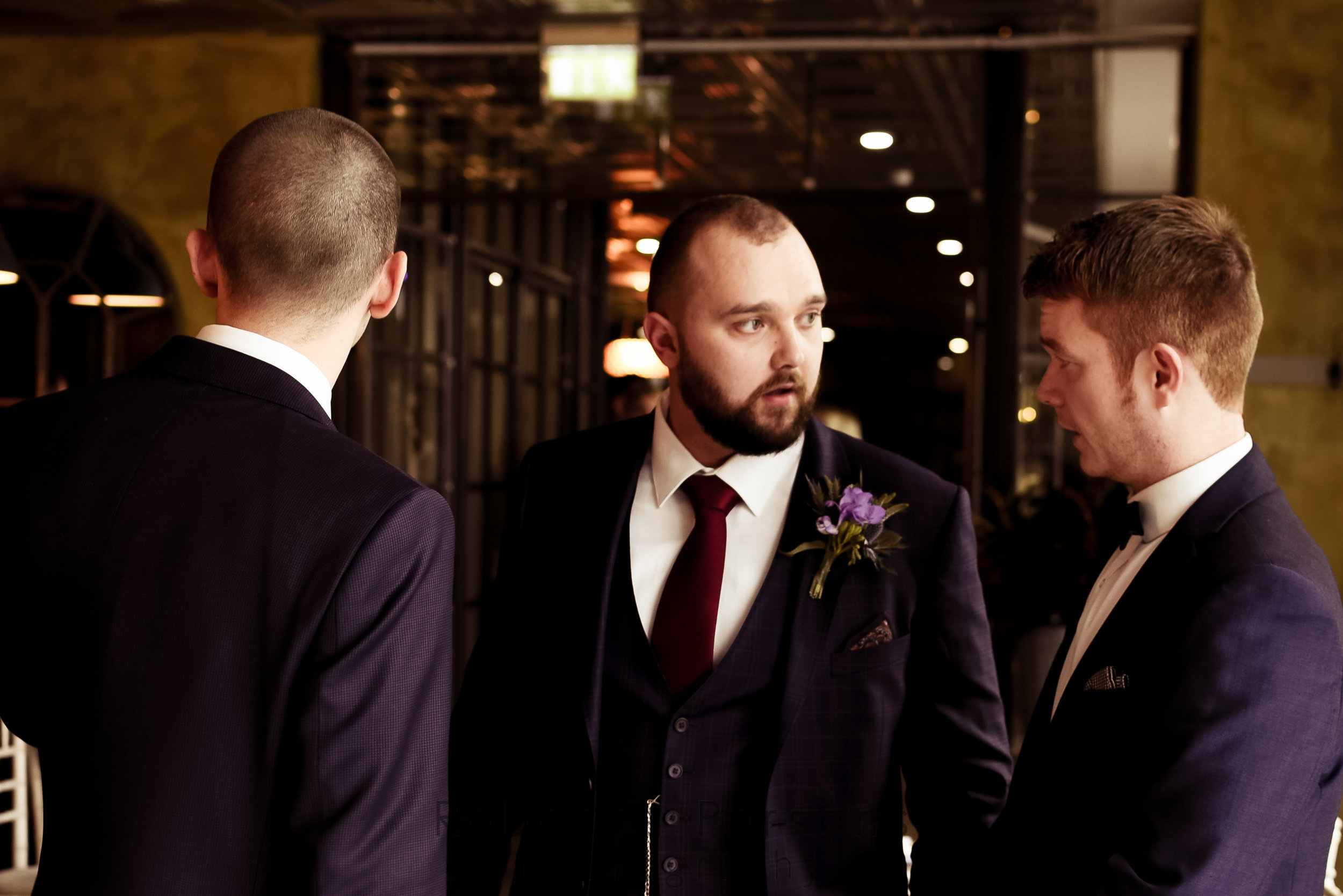 Groom waiting with best man