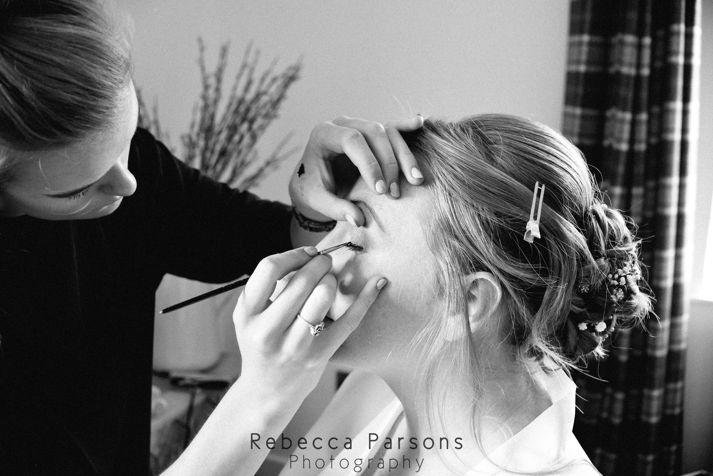 bridal make up black and white