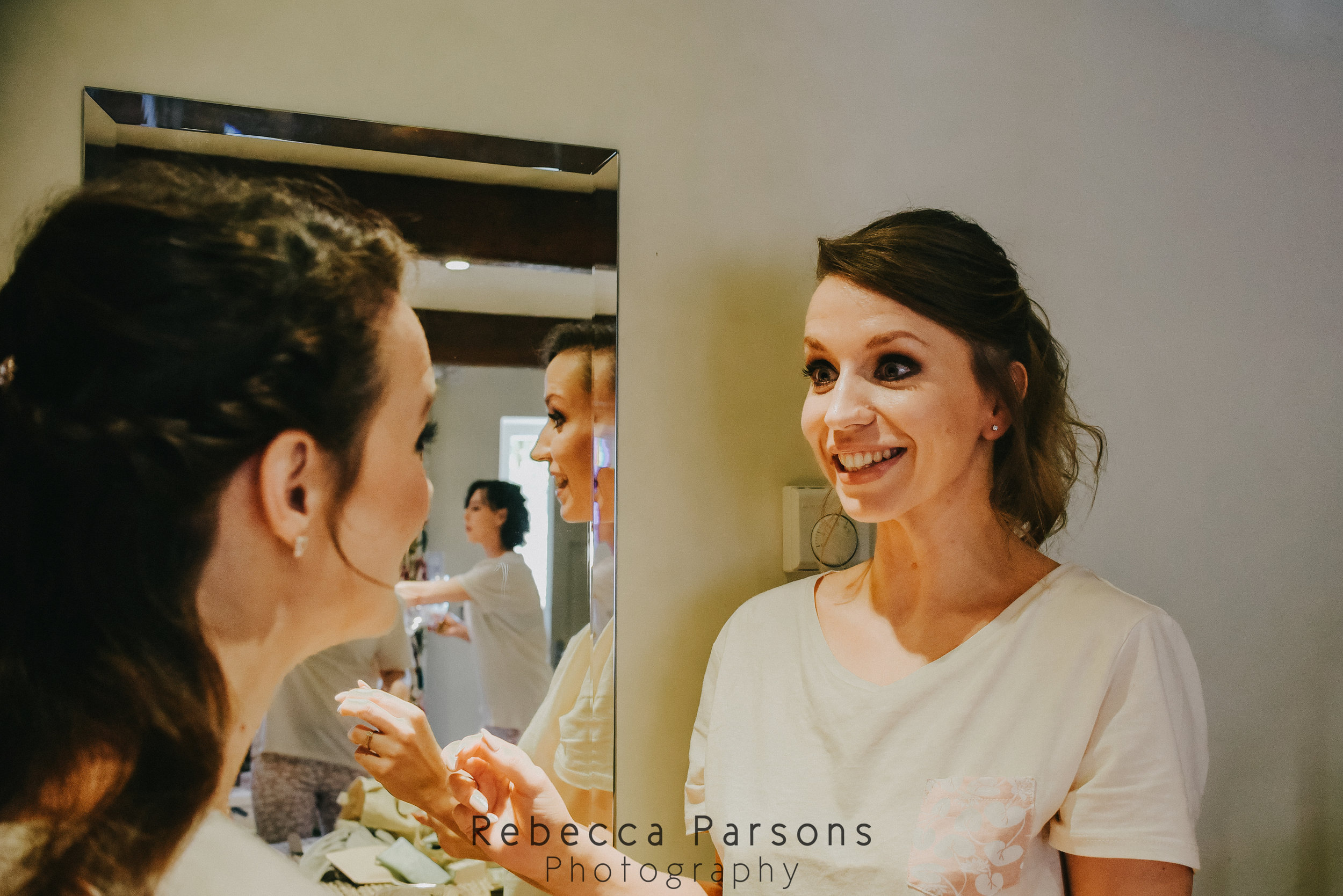 bride talking to bridesmaid