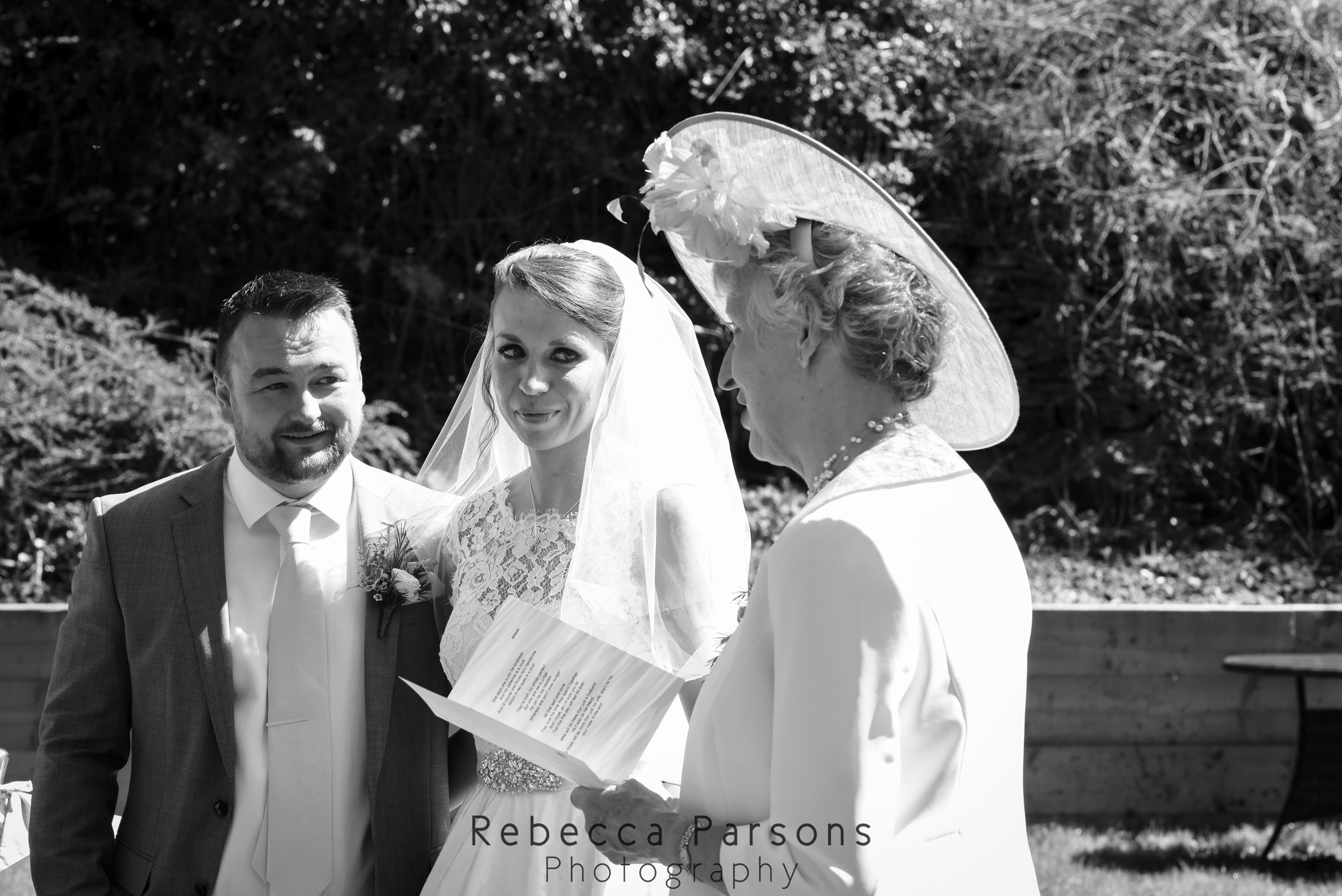 bride's mother reading black and white
