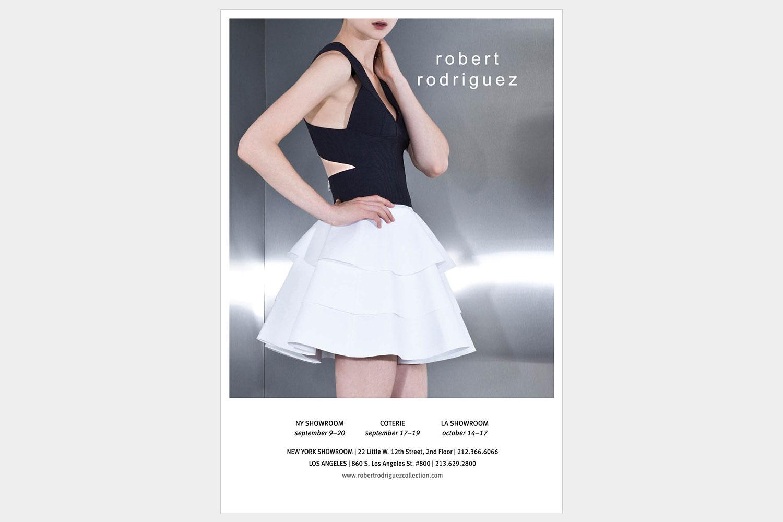 Print Ad for Designer, Robert Rodriguez