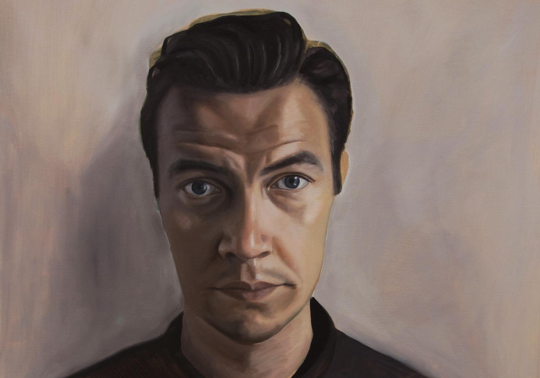 Geschilderd Portret - Sander - Olie op doek