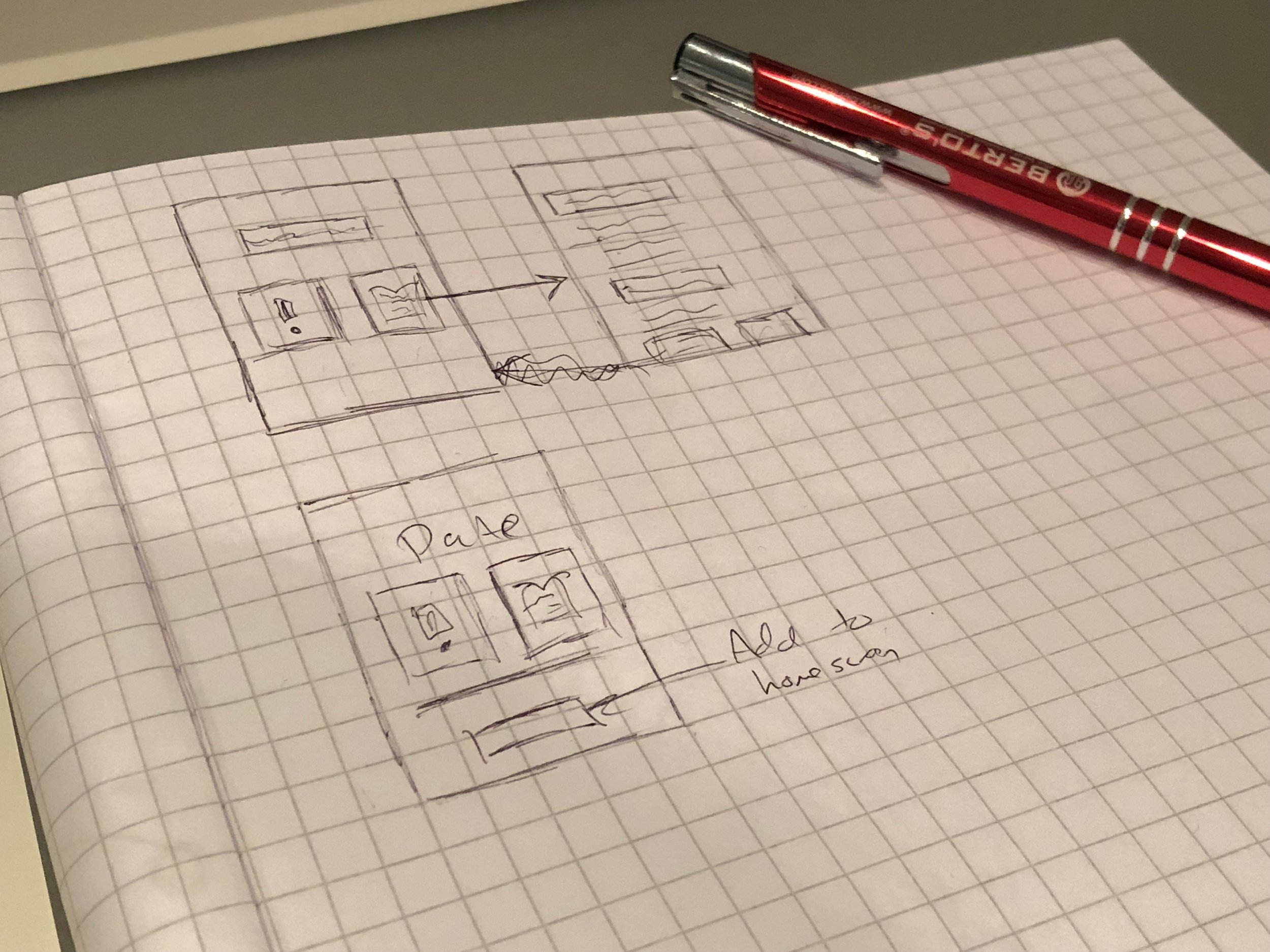 Initial sketches of the interface.