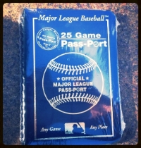 The Taylor boys recorded their ball-park visits in this MLB passport. (See a similar one on Amazon, at left.)
