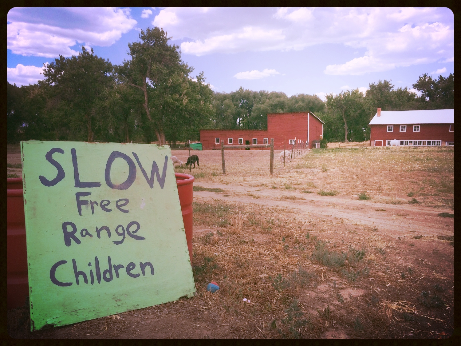 This humorous sign greets visitors at the entrance of Ollin Farms, located at 8627 N. 95th St., in SW Longmont, Colo.