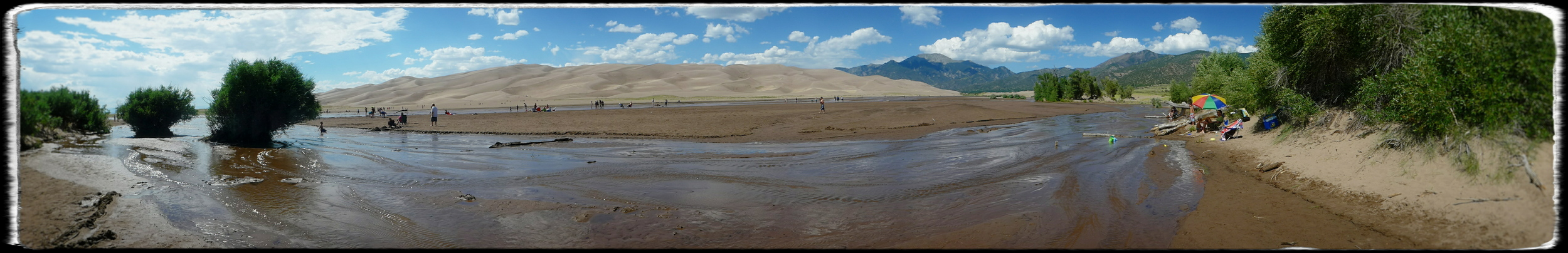 Many visitors to Great Sand Dunes NP don't go much farther past Medano Creek, which lies seasonally at the base of the dunes.
