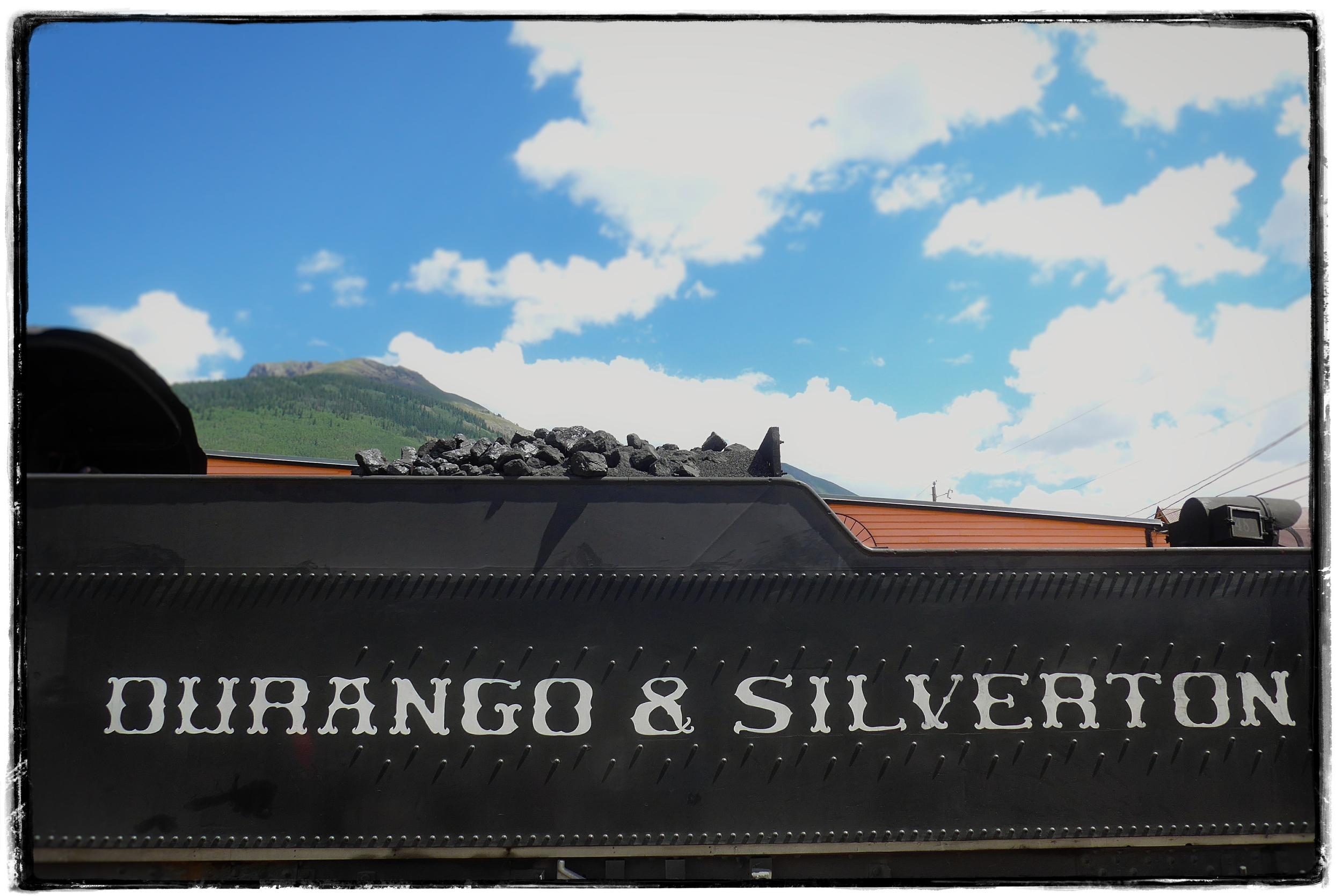 The train preparing to leave the Silverton depot back toward Durango.