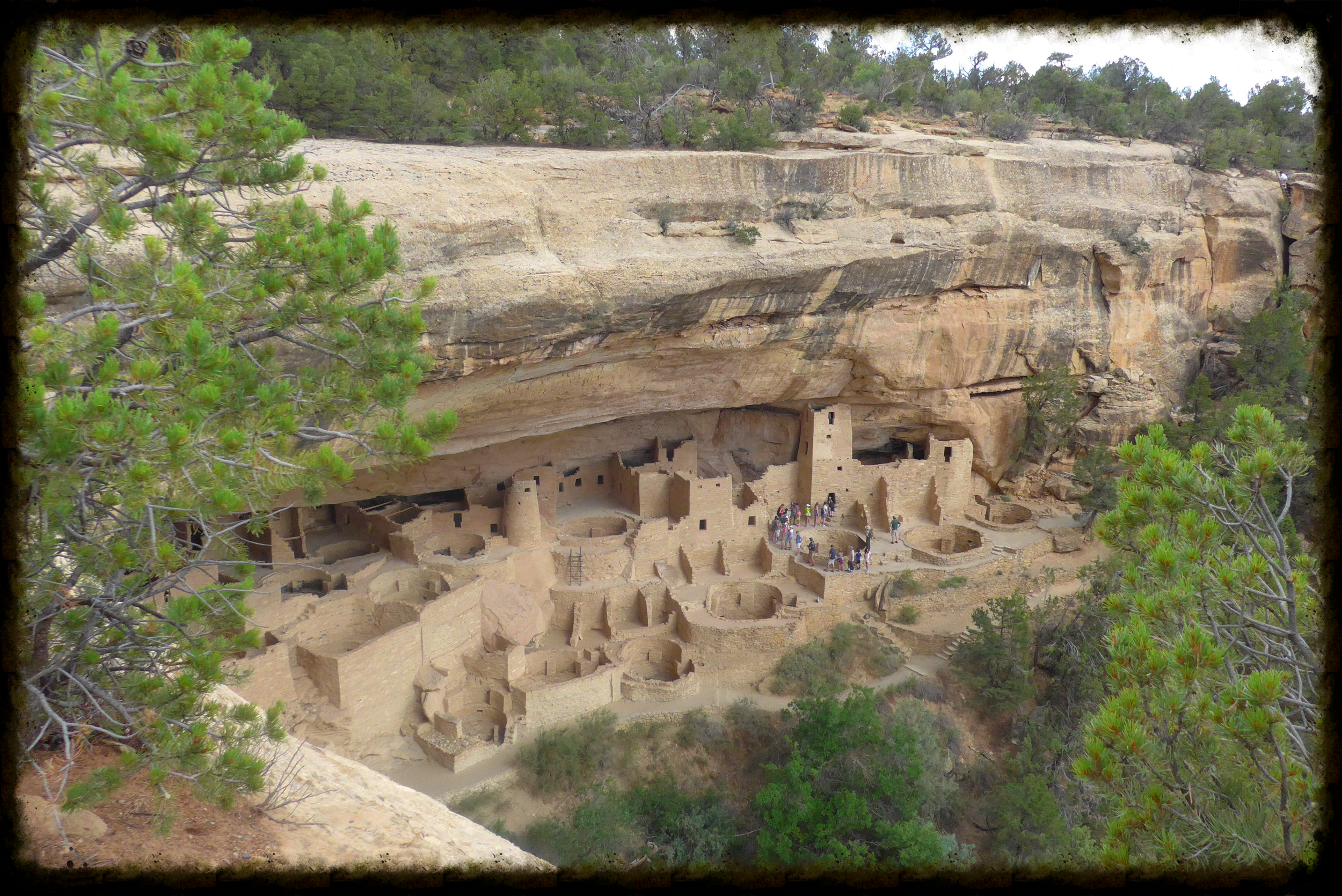 Visitors can take a ranger-guided tour through the famous Cliff Palace in Mesa Verde NP.  Photo by Michael Mundt
