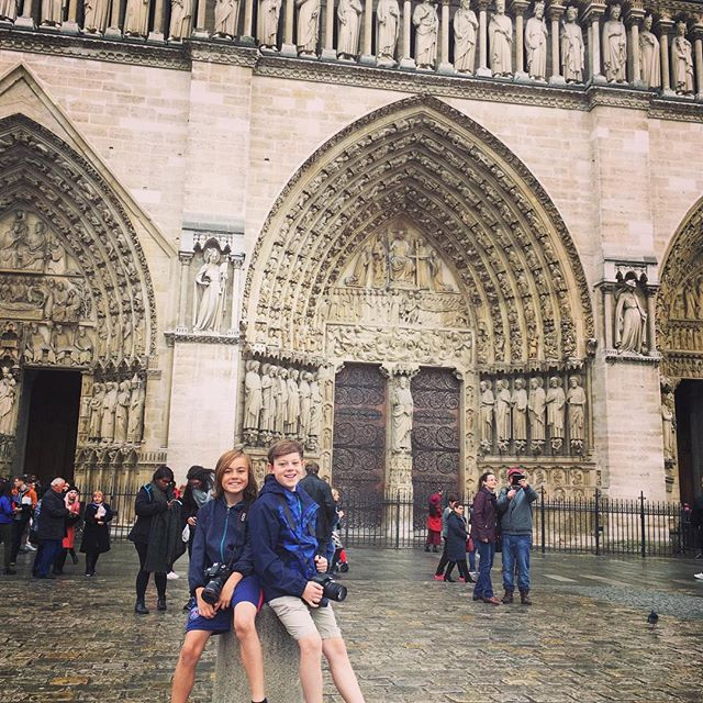 So sorry for you, #paris. Glad the main part was saved and that I've gotten to see #notredame twice, the last time in 2017 with the boys. 😩 Sending #france some love from the U.S.