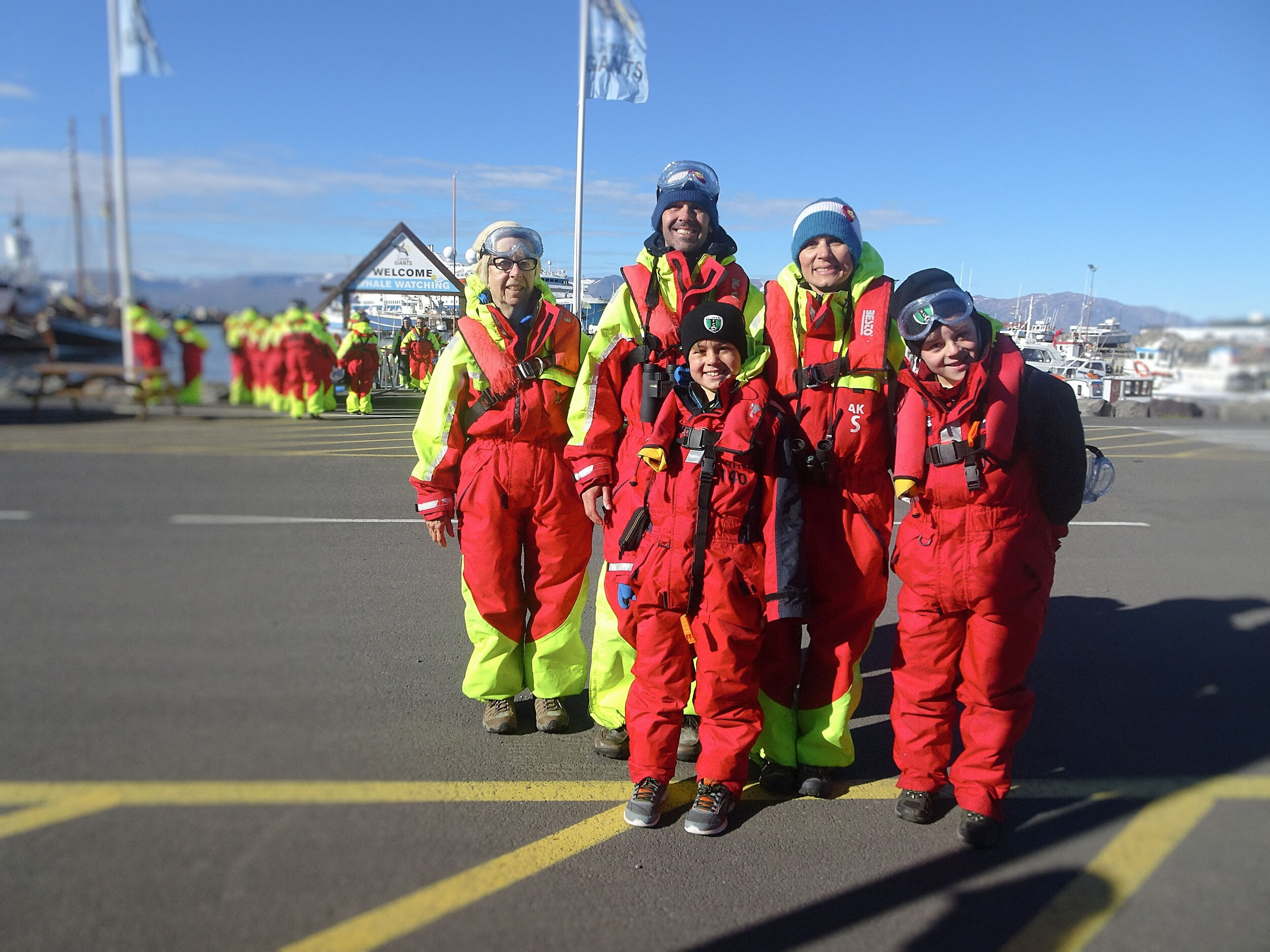 The trip included my mother-in-law, Linda Mundt (far left). Don't we look cute in our gear?