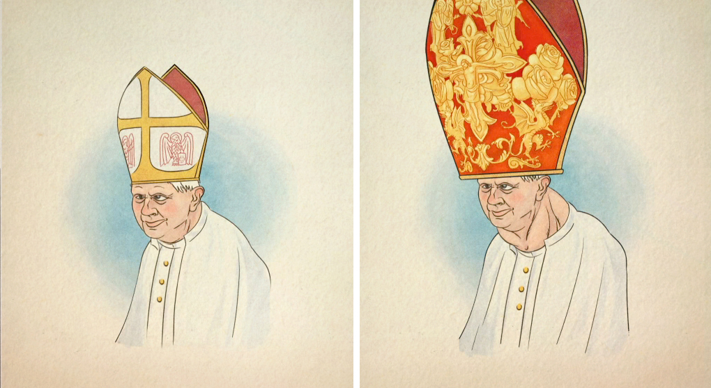 Pope and Mitres