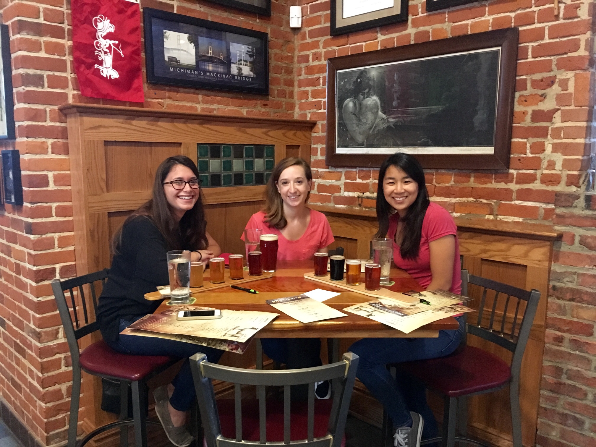 September, 2016 - Lab bonding on a road trip through Pure Michigan! Emily, Alyssa and Alana at Bells Brewery.