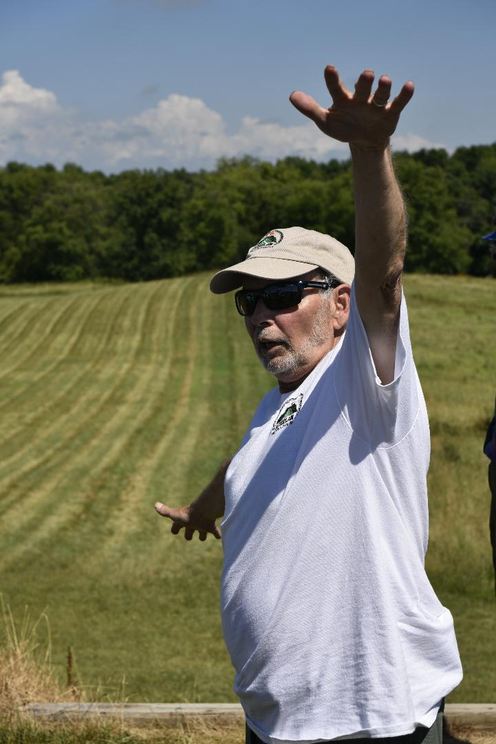 Bob Birmingham leading a tour.   Photo courtesy of Kristine Kust