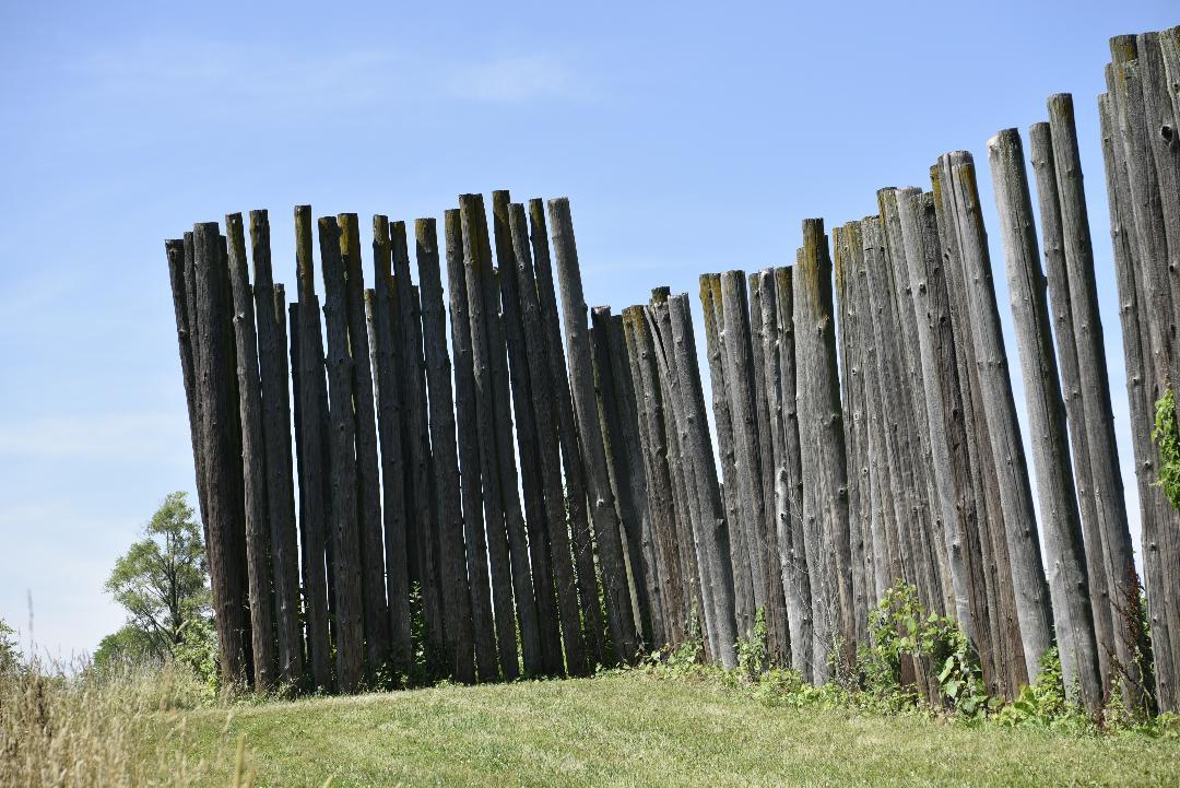 Ye old stockade wall.   Photo courtesy of Kristine Kust