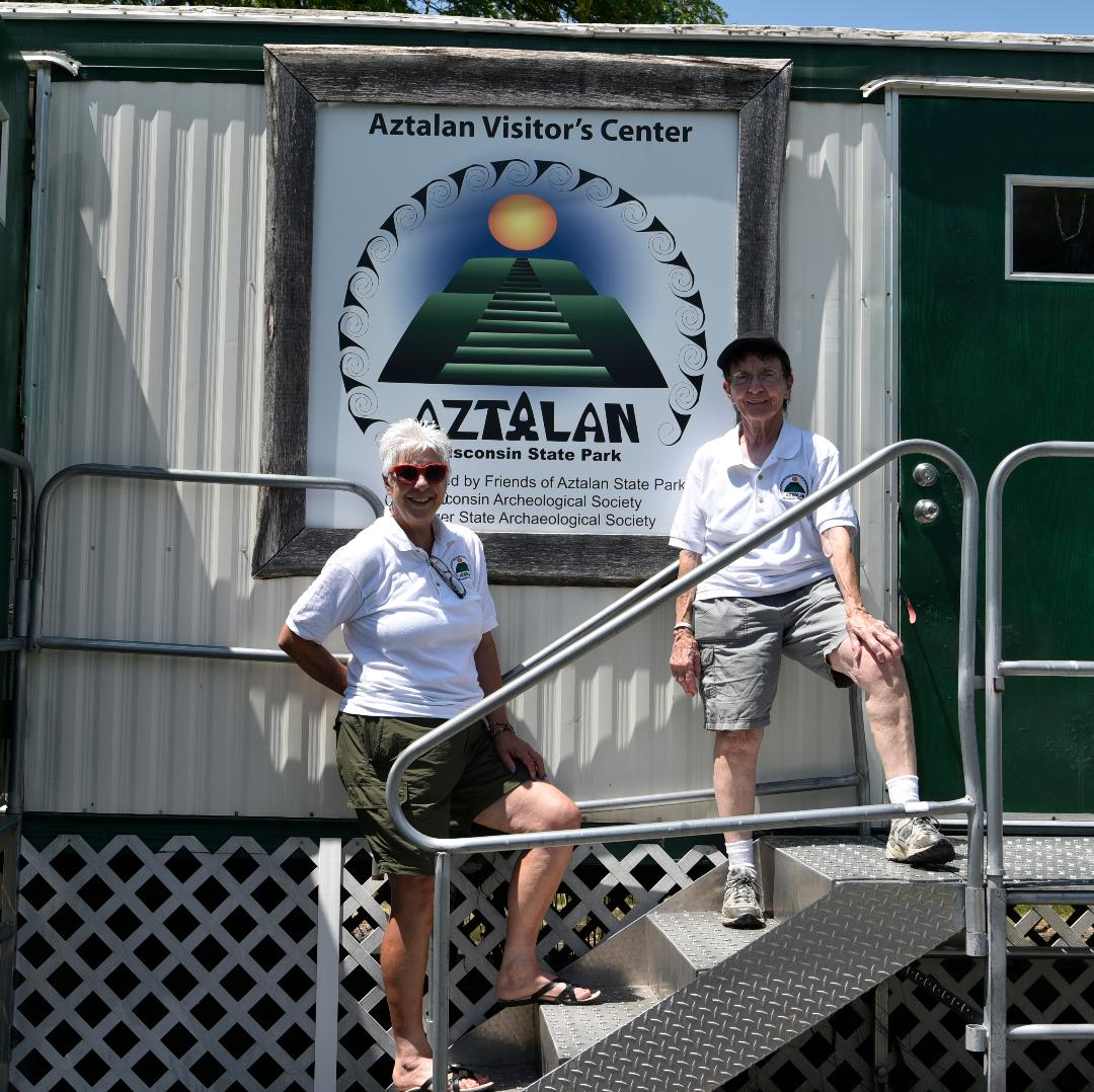 Dedicated volunteers at the trailer - Kathryn Wolfgram and Sylvia Sippel.   Photo courtesy of Kristine Kust