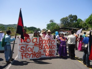 Ngabe protesters camped for weeks on the banks of the Tabasara River.