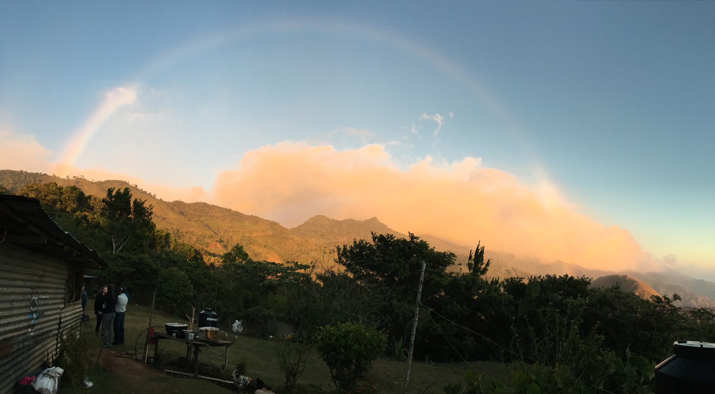 10. Rainbow over the Comarca! The stunning views of the Comarca from Hato Ratón were magnified by this full rainbow that was created by the mist flowing over the central mountains from the Atlantic Ocean to the Pacific Ocean.