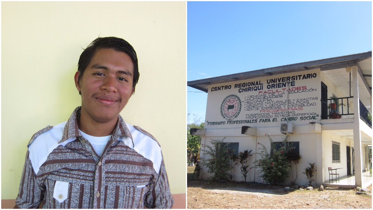 1. FFC Scholar Edgar earned a university scholarship this year to study Information Technology at the University of Chiriqui ( UNACHI ). During our visit with Edgar, we learned that he campaigned to be the student representative for the entire Ngäbe-Buglé Comarca at the Panamanian Student Congress. Unfortunately, he lost in a tight race but we are so proud of his drive and dedication to student interests. We went and visited UNACHI where he will be studying.