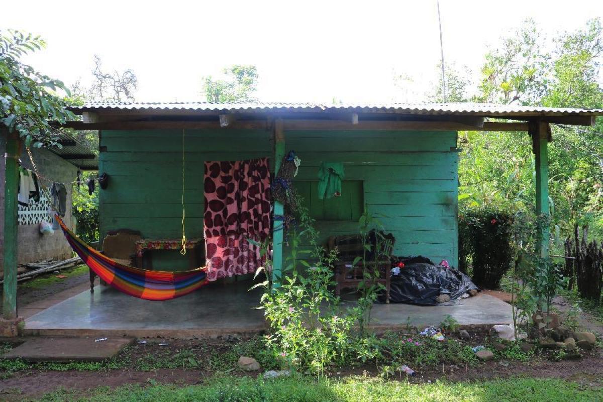Doris's home in Quebrada Guabo.