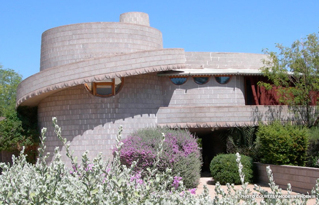 Arcadia is home to a Frank Lloyd Wright home