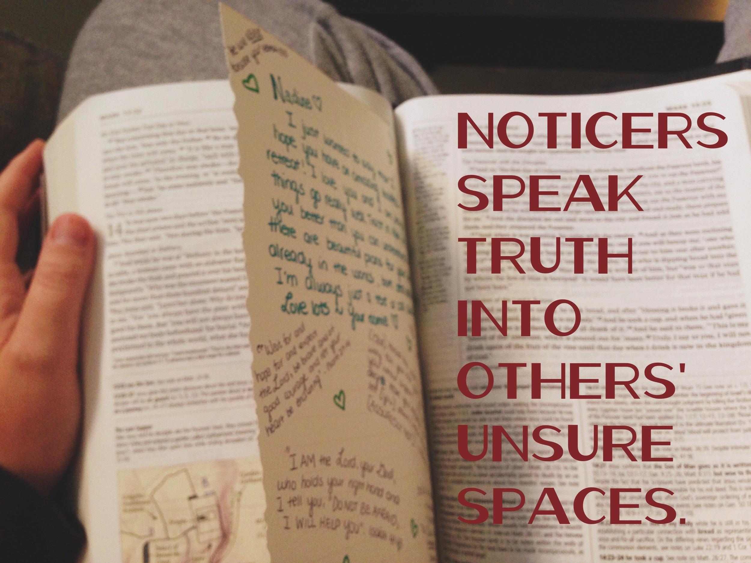 unsure spaces nadinewouldsay noticer