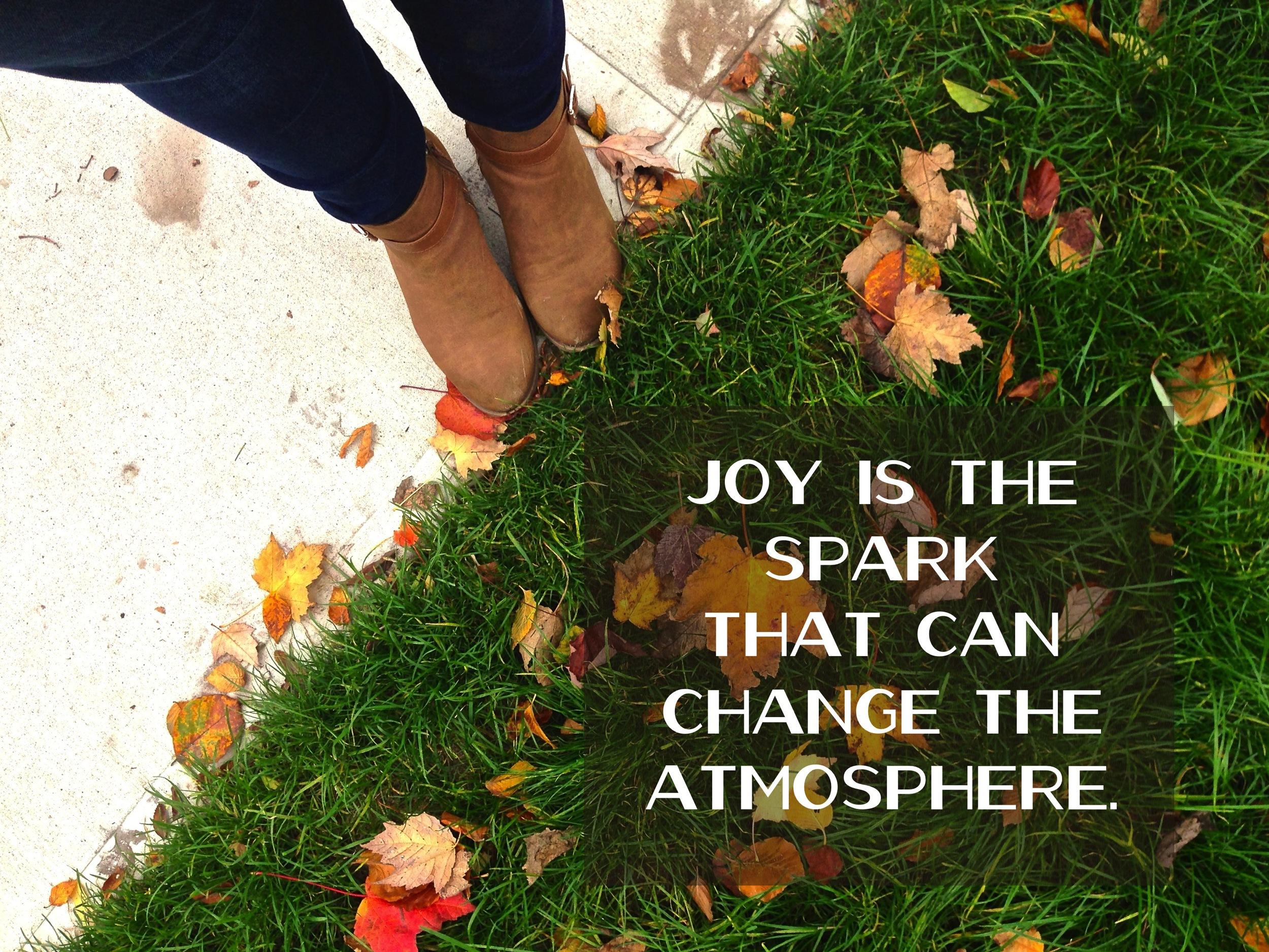 Choose joy via nadinewouldsay