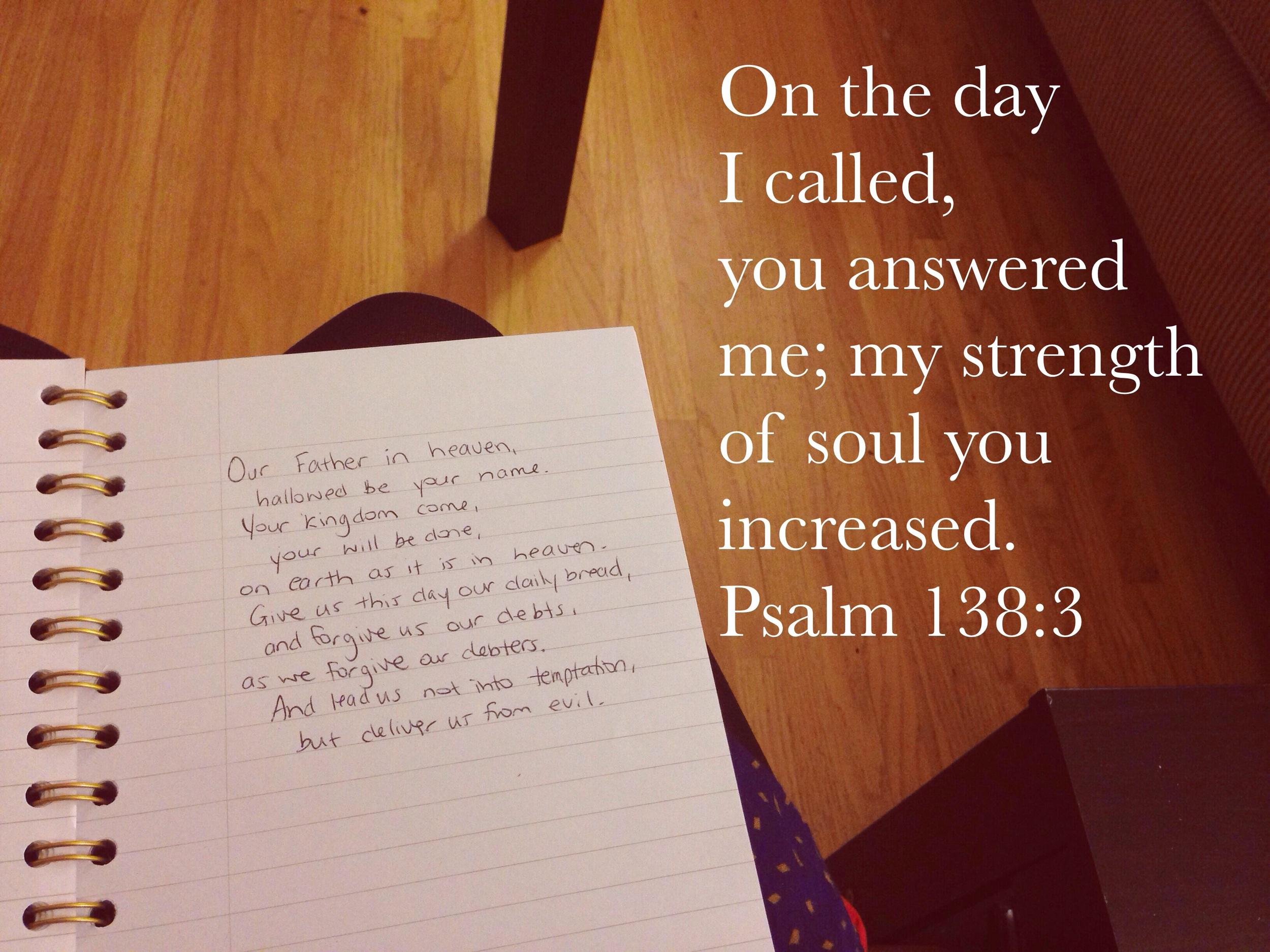 Psalm 138 via nadinewouldsay